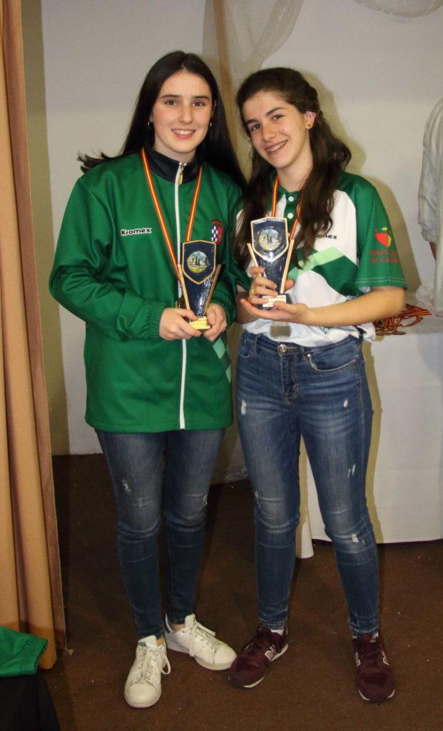 Bárbara Jiménez resultó Campeona Autonómica y Claudia Sánchez subcampeona