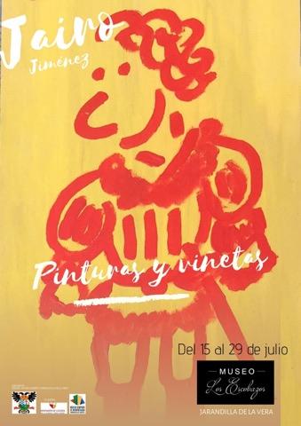 Jairo Jiménez, expone su obra en el Museo de los Escobazos de Jarandilla de la Vera