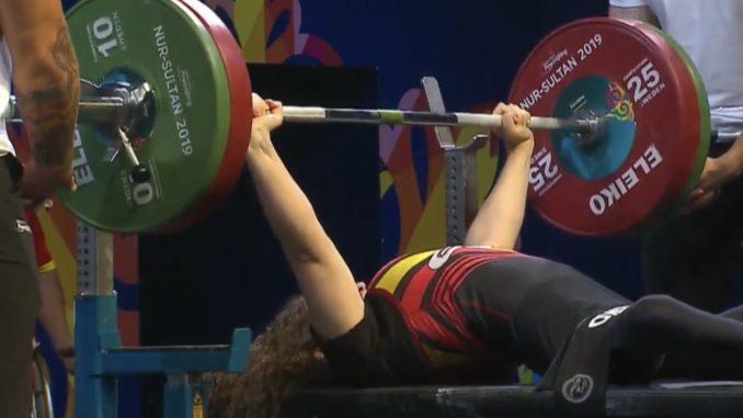 Loida Zabala Ollero octava en el Campeonato del Mundo de Para Powerlifting en Nur-Sultán (Kazajistán)