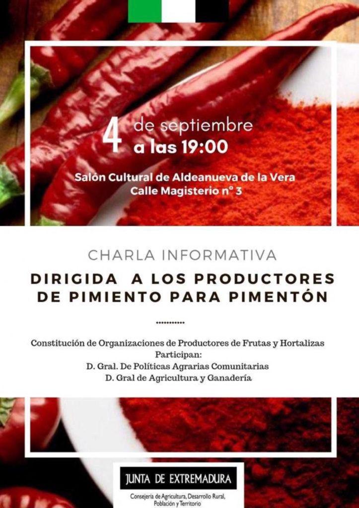 Organización de ProductReunión dirigida a los productores de pimiento para pimentón
