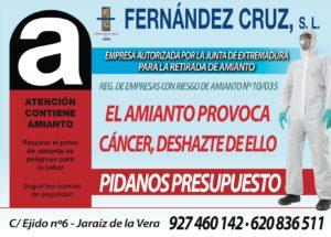 Fernández Cruz S.L - Especilistas en AMIANTO