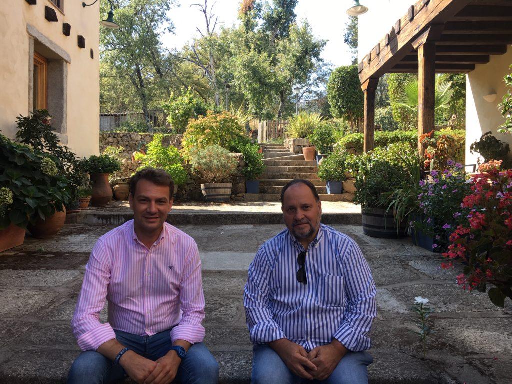 Luis Miguel Nuñez, alcalde jaraiz y Juan Hanneman